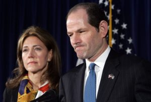 Eliot Spitzer and Wife (photo by NY Daily News)