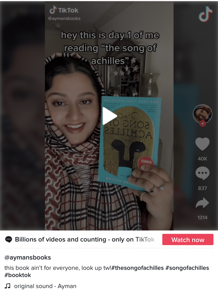 How Crying on TikTok Sells Books